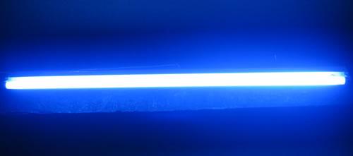livraison gratuite tube fluo standard 18w 60cm bleu prozic. Black Bedroom Furniture Sets. Home Design Ideas