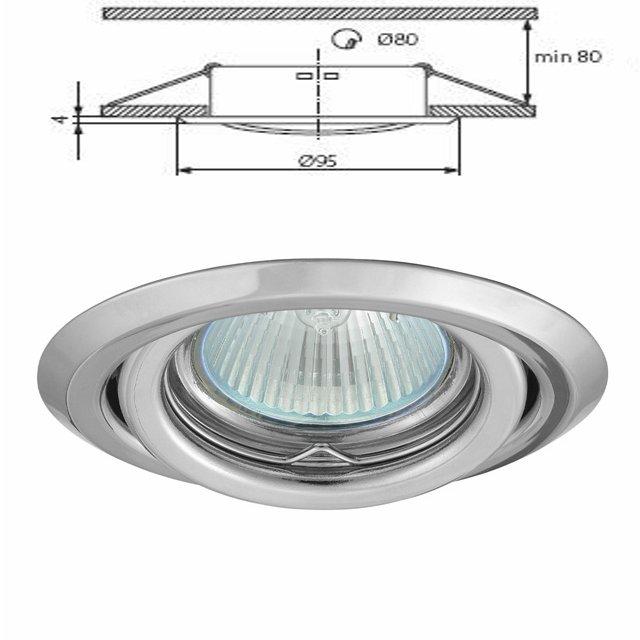 livraison gratuite plafonnier chrome encastr spot orientable pour dichroique halog ne ou led. Black Bedroom Furniture Sets. Home Design Ideas