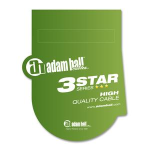 Adam Hall Cables 3 STAR BVV 0015 SET - Jeu de 6 câbles patch 6,3 mm Jack Stereo 0,15 m