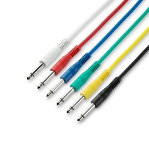Adam Hall Cables K3 IPP 0060 SET - Jeu de 6 câbles patch 6,3 mm Jack Mono 0,60 m
